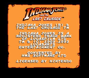 Indy Jones and the Last Crusade: The Action Game