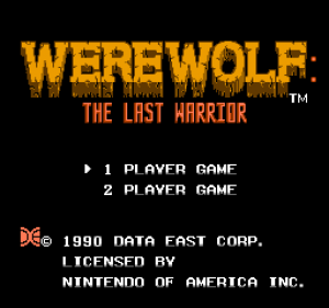 Werewolf: The Last Warrior