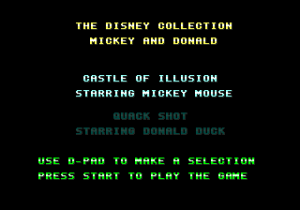 Quackshot Starring Donald Duck & Castle of Illusion Starring Mickey Mouse