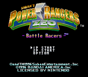 Saban's Power Rangers Zeo: Battle Racers