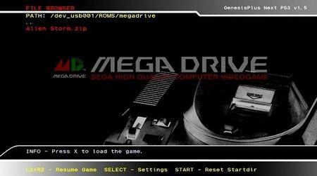 sega mega drive emulator ps3
