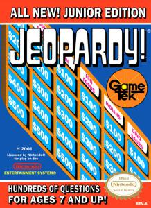 Jeopardy! Junior Edition (Strategy, 1989 год)