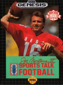 Joe Montana II: Sports Talk Football (Sports, 1991 год)