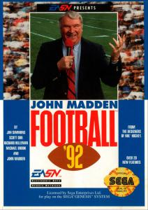 John Madden Football '92 (Sports, 1991 год)